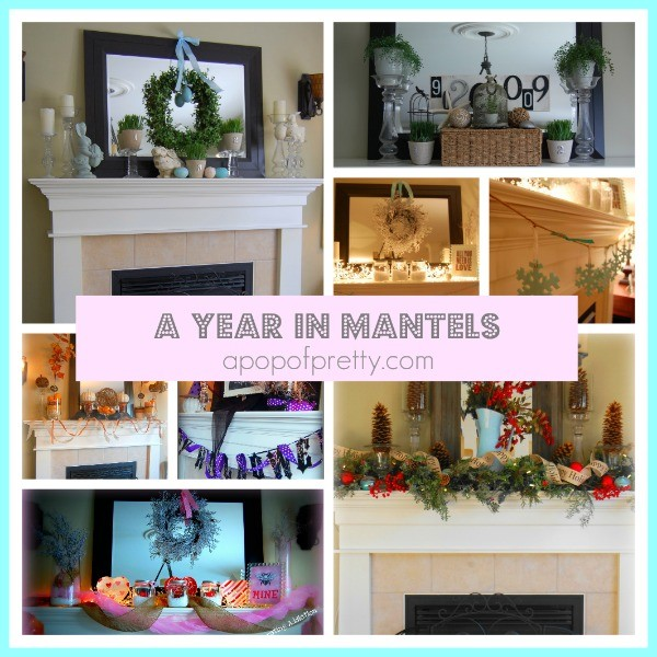Exceptionnel A Full Year In Decorated Mantels.   A Pop Of Pretty Blog (Canadian Home