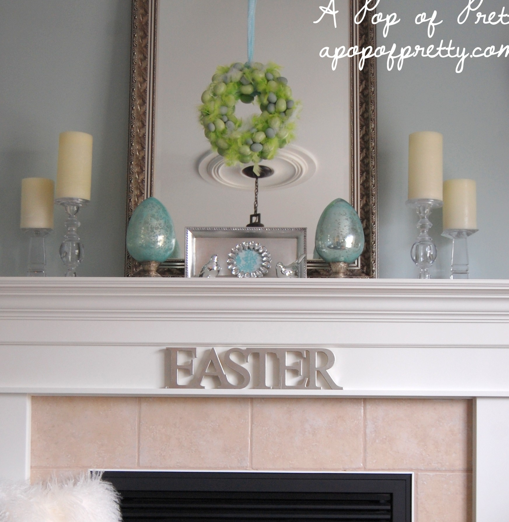 Decorating A Mantel easter decorating ideas: decorate a simple easter mantel! - a pop