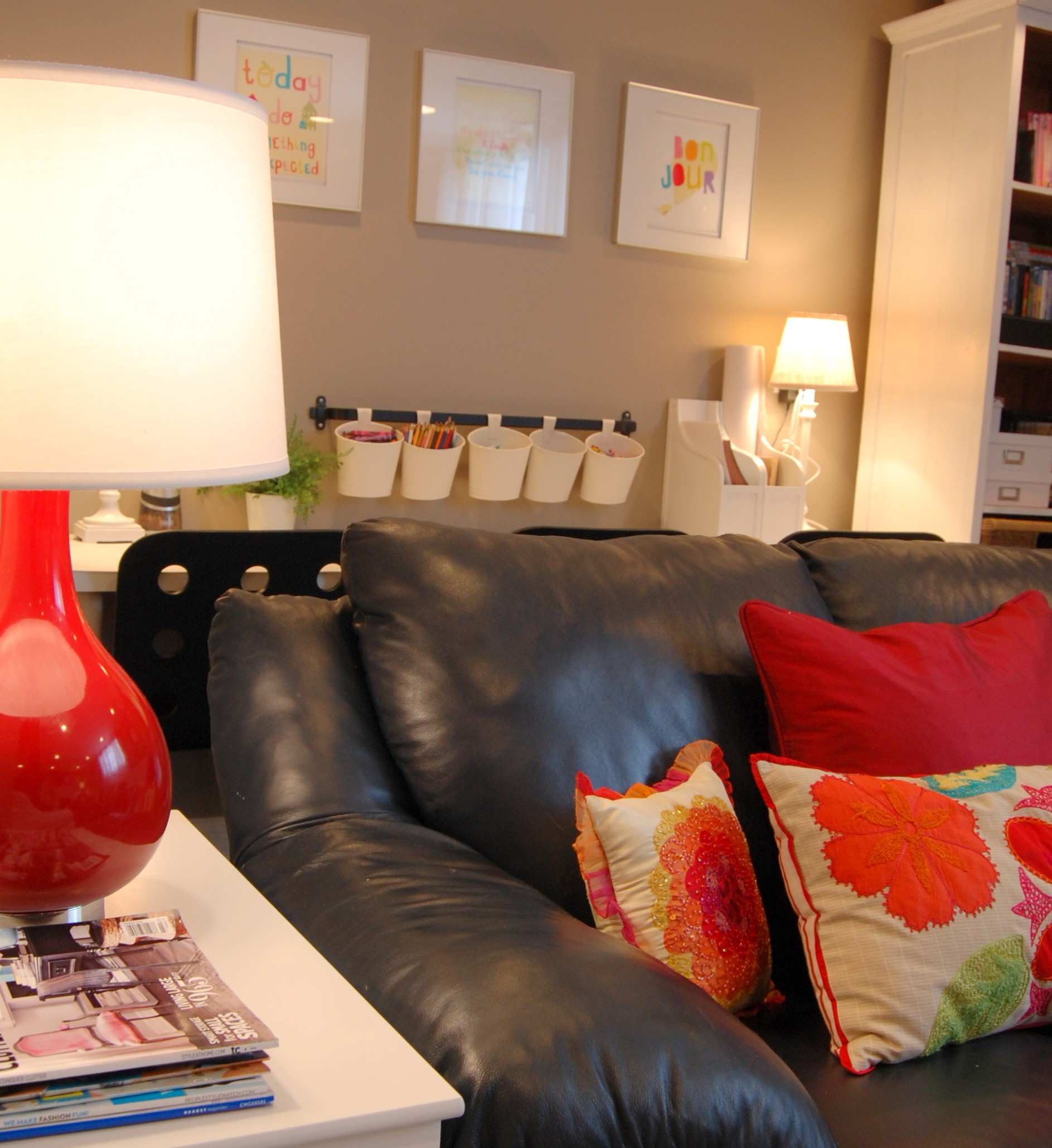 Colorful Basement Family Room: House Peeping #2 (Room Tour