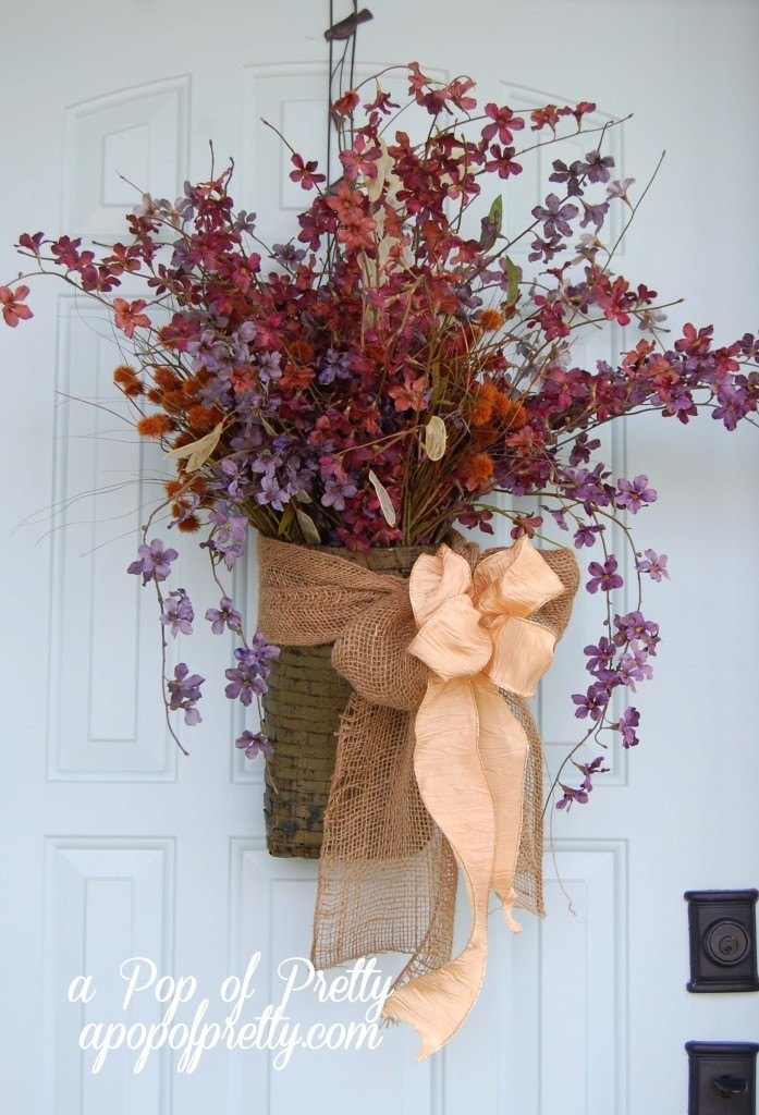 Fall Door Decorating