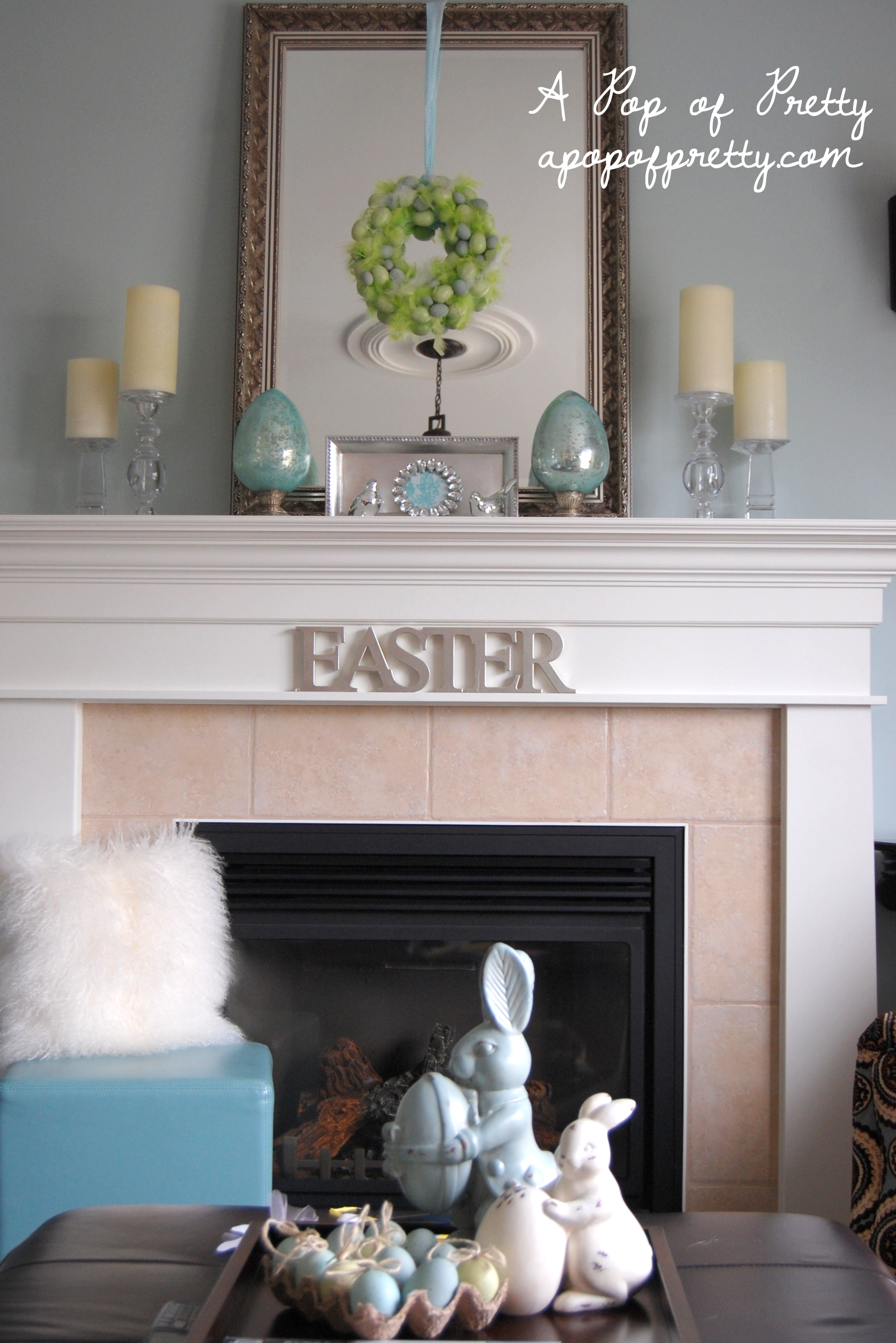 Easter mantel ideas a pop of pretty blog canadian home decorating blog st john 39 s canada - Canadian home decor stores photos ...