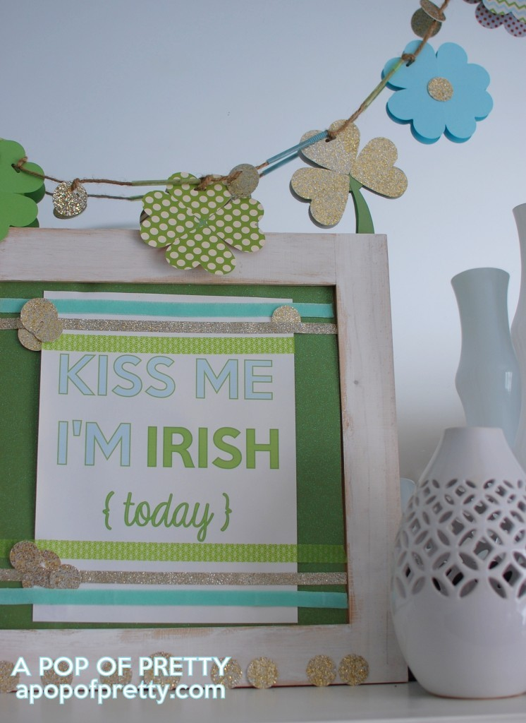 diy shamrock garland for St Patricks Day