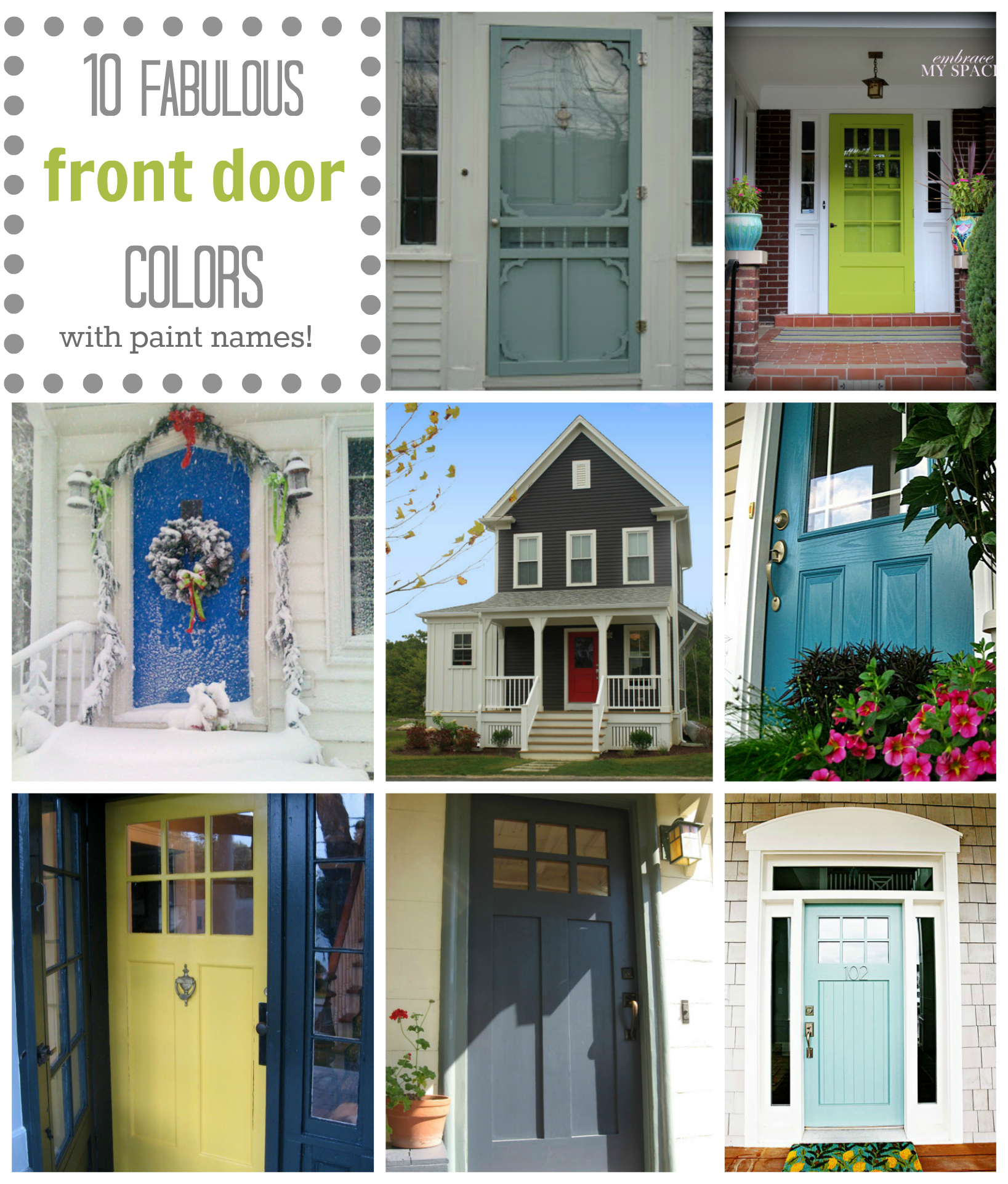 front door color: 10 fabulous front door colors (& their paint
