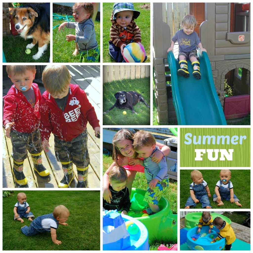Summer fun collage