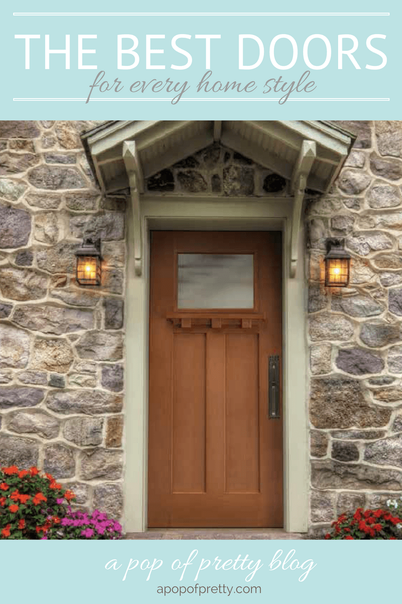 Best front doors for every home style masonite a pop for Best looking front doors